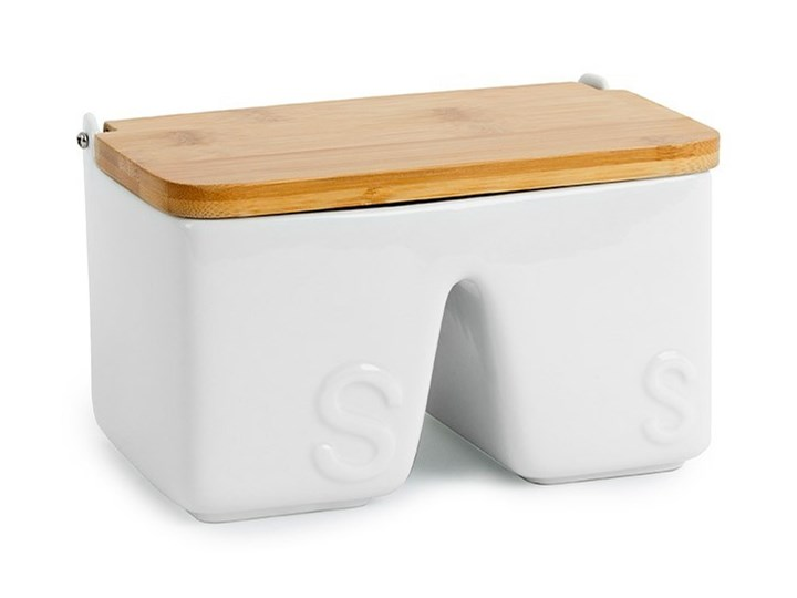 Balvi Ceramiczny Pojemnik Na Sól Z Bambusową Pokrywką Ssalt