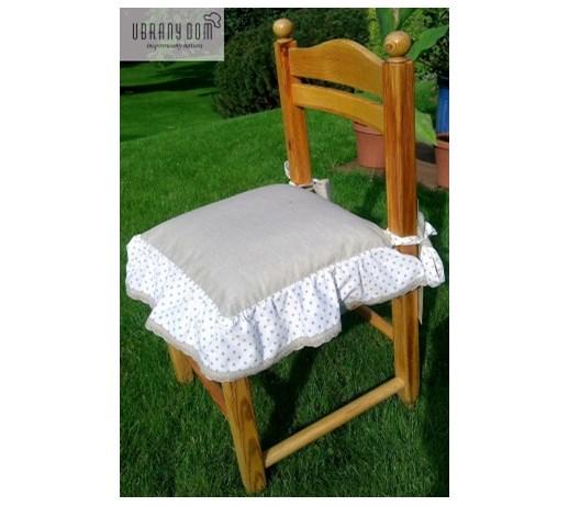 pokrowce na krzes a z falbank w be owe kropki 2 siedziska na krzes a zdj cia pomys y. Black Bedroom Furniture Sets. Home Design Ideas
