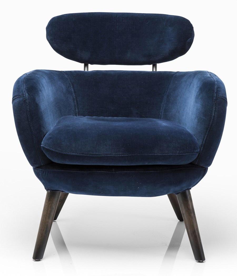 Kare design fotel jupiter blue velvet fotele zdj cia pomys y inspiracje homebook Kare fotel