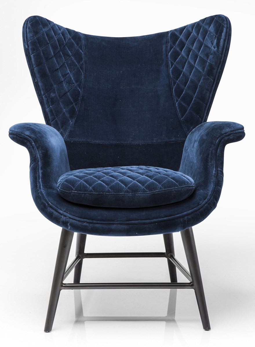 Kare design fotel tudor blue velvet fotele zdj cia pomys y inspiracje homebook Kare fotel