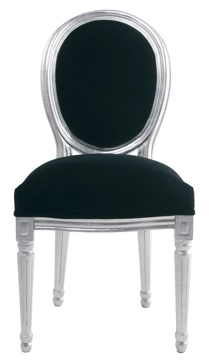 Kare design krzes o louis velvet srebrne krzes a for Kare design tisch bijou steel
