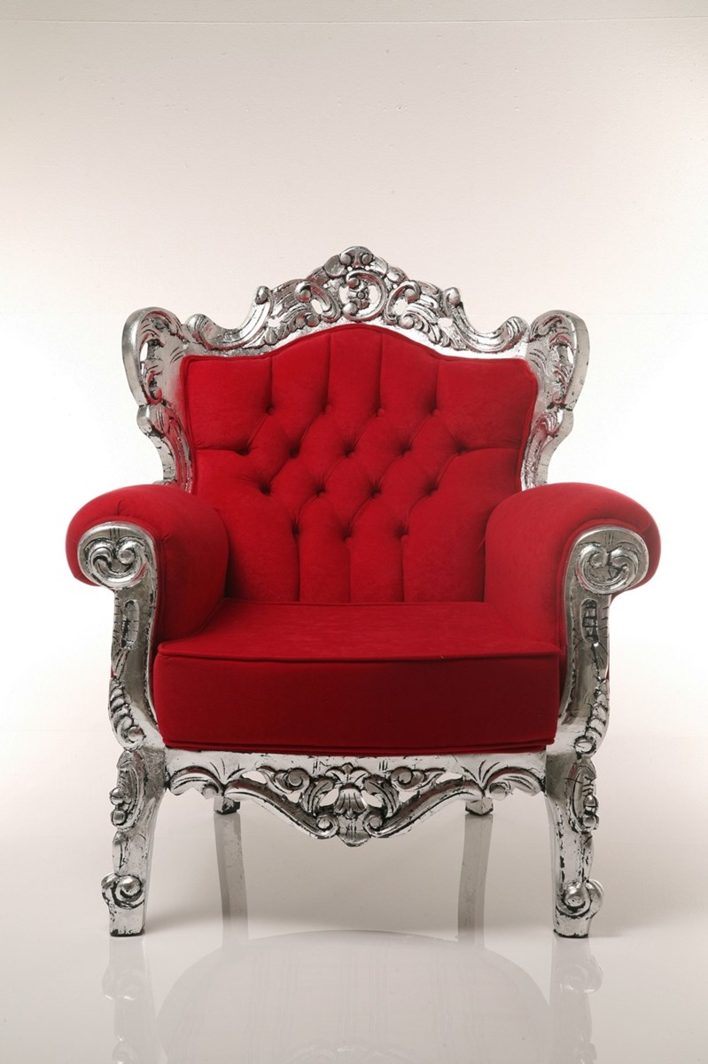 Kare design fotel tendence opulence czerwony Kare fotel