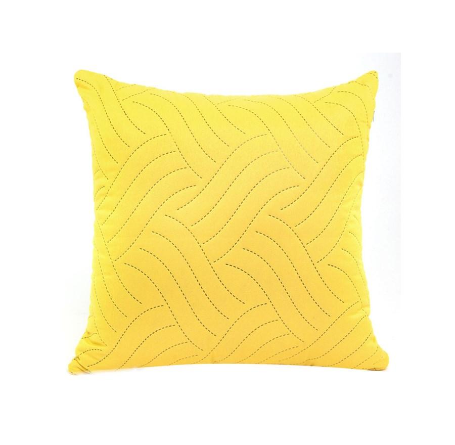 Poszewka Dekoracyjna 40x40 Fala żółta Eurofirany