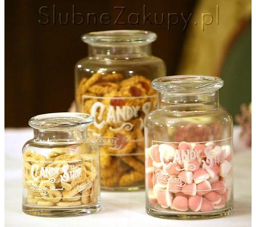 Zestaw 3 Słoje Candy Shop 40 Taniej