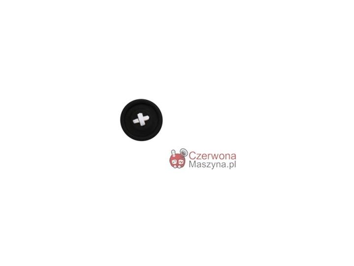 Wieszak w kształcie guzika HK Living #216; 18 cm, czarny