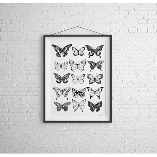 Motyle Nº1 - plakat autorski