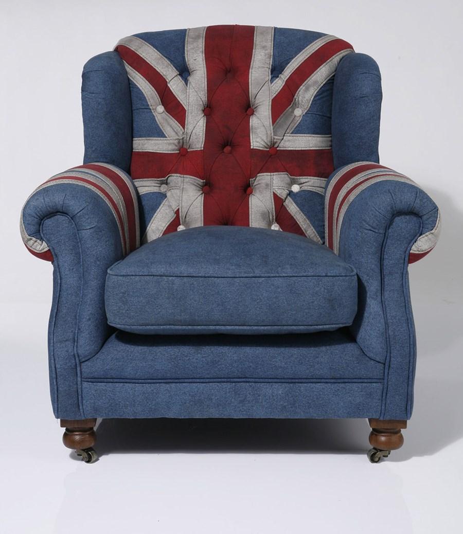 Kare design fotel grandfather union jack fotele zdj cia pomys y inspiracje homebook Kare fotel