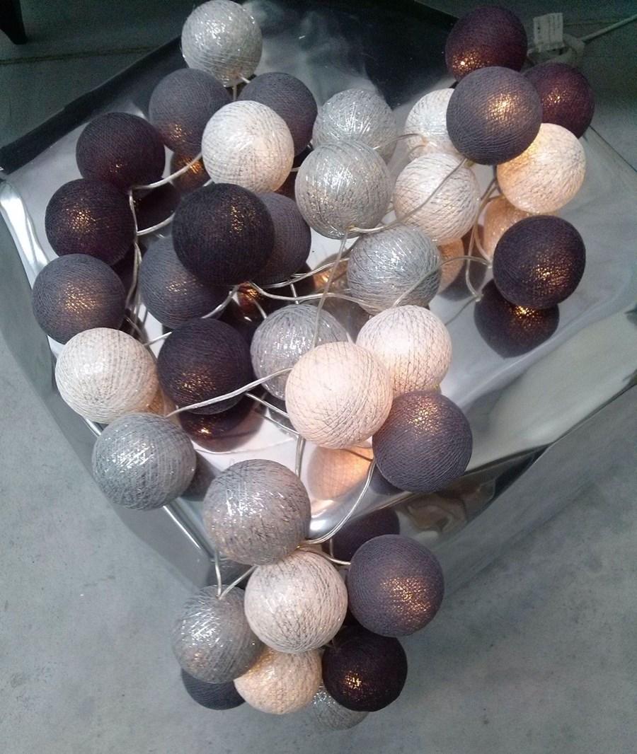 Cotton Ball Lights Grey Shadow Silver 35 Kul