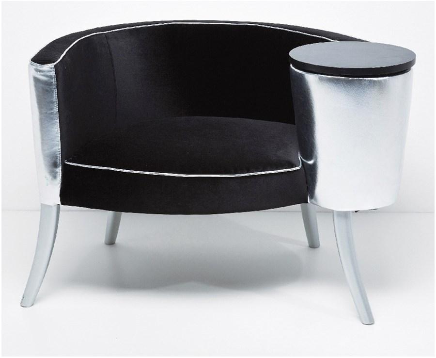 Kare design fotel philoma silver black fotele zdj cia pomys y inspiracje homebook Kare fotel