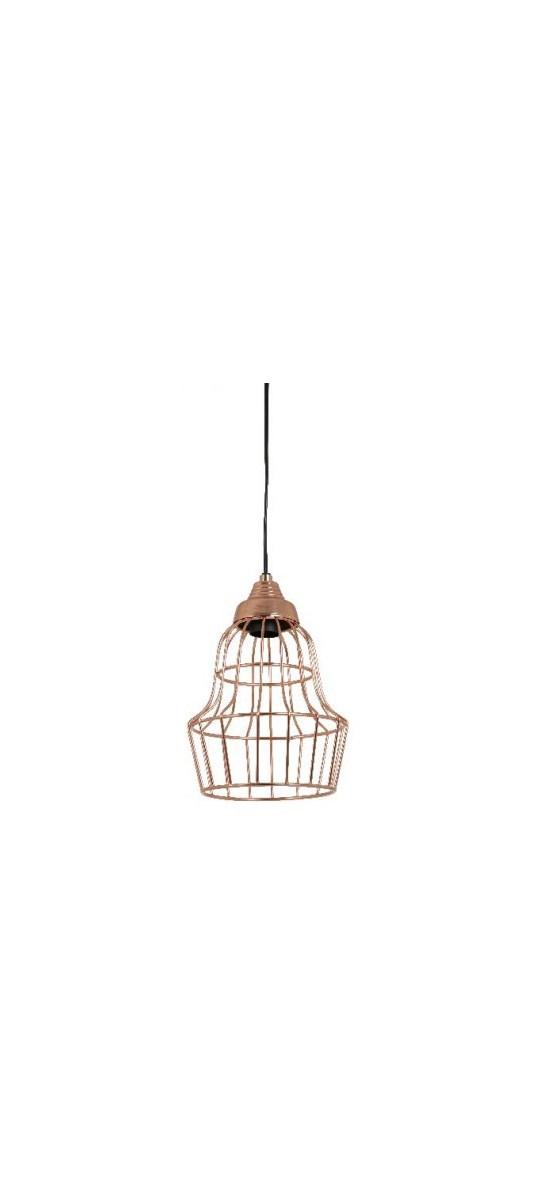 Light & Living : Light & Living Lampa Wisząca Birke Miedziana 17x27cm ...