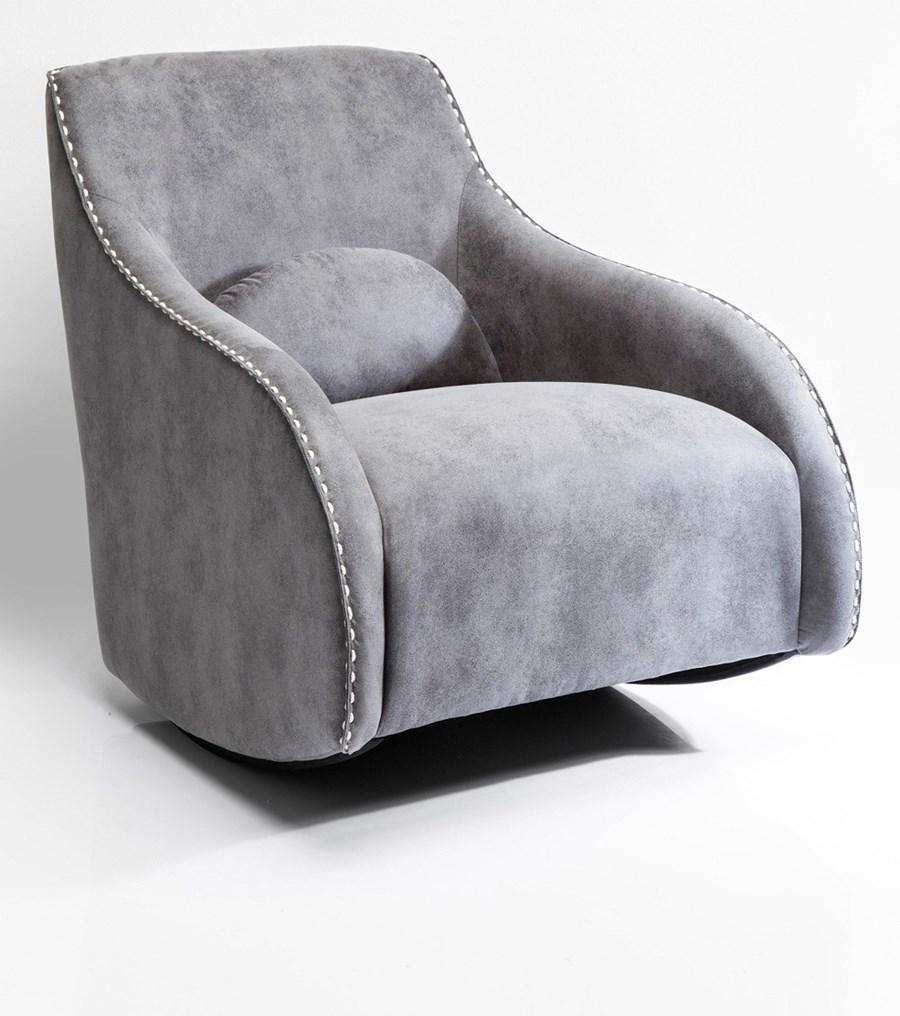 Kare design fotel swing ritmo vintage grey fotele zdj cia pomys y inspiracje homebook Kare fotel