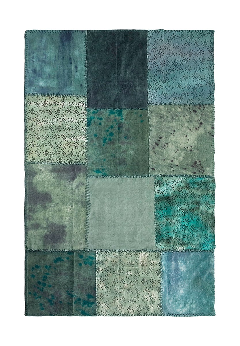 Kare Design Dywan Patchwork Velvet Turquoise 170x240cm Dywany Zdj Cia Pomys Y
