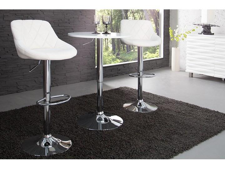 Krzesło Barowe Paradise Białe Pikowane