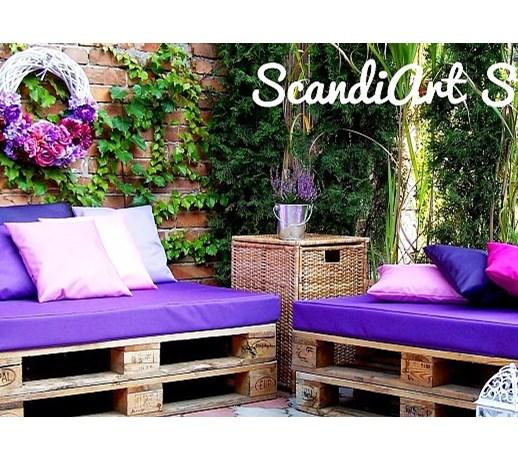Materace I Poduszki Na Meble Ogrodowe : Siedzisko na meble z euro palet  Poduszki ogrodowe  zdjęcia