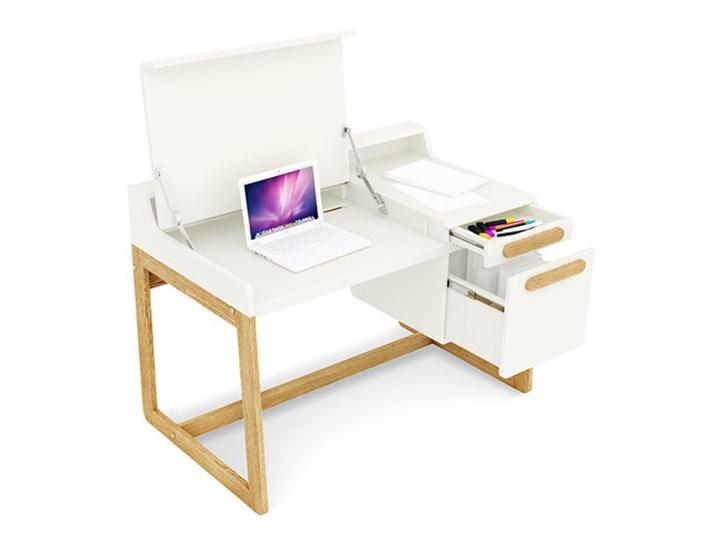 Ogromny Rozkładane biurko z kontenerkiem FIRST - Biurka dla dzieci UH08