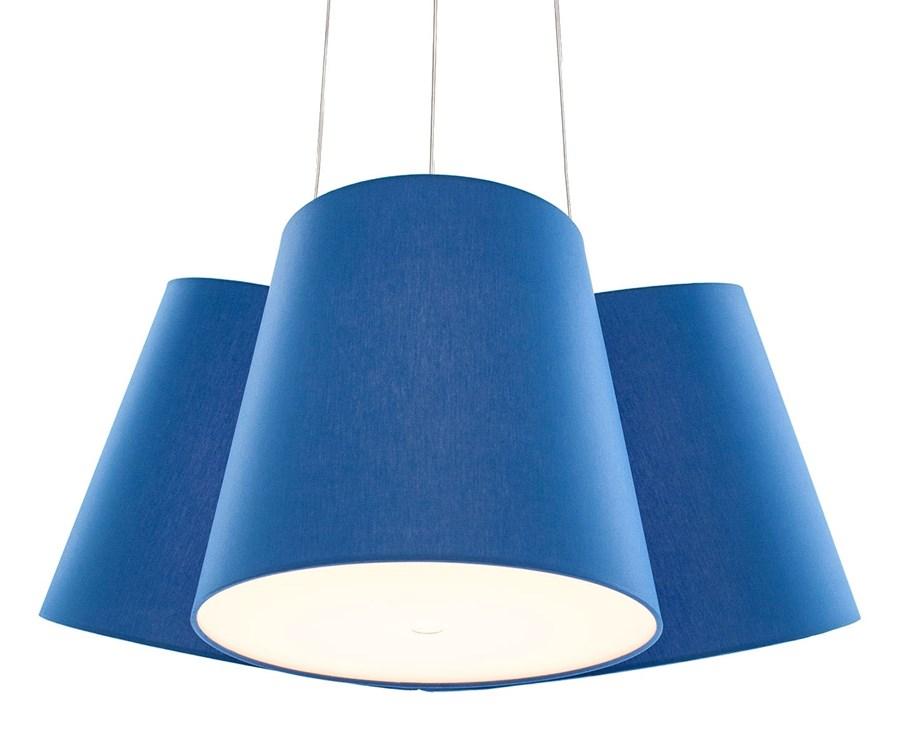 Cluster lampa wisz ca 3 aba ury niebieski lampy for Suspension plusieurs abat jour