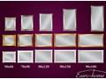 Lustro w drewnianej srebrnej oprawie 70x90 21023 Lustro z ramą Ścienne Prostokątne Kolor Srebrny