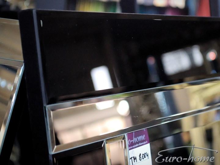 Lustro w lustrzanej oprawie 60x90 TM8004 Kolor Czarny Lustro z ramą Prostokątne Ścienne Pomieszczenie Salon