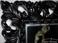 LUSTRO PU-058 80x100cm CZARNE ścienne Prostokątne szkło Styl Glamour