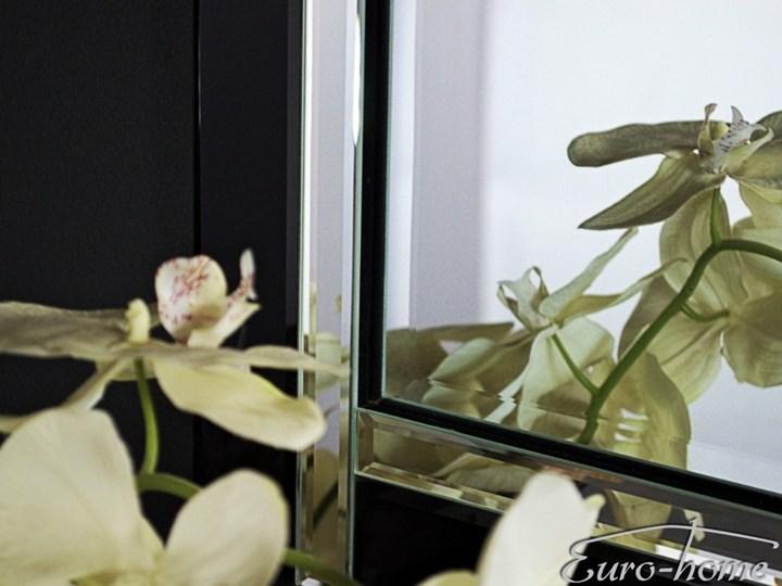 Lustro w lustrzanej oprawie 90x150 TM8004 Lustro z ramą Ścienne Prostokątne Kolor Czarny