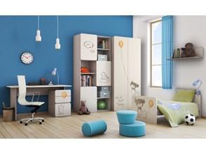 Pokój dziecięcy 2pir (z biurkiem, nadruk Dziewczynka z balonikiem)