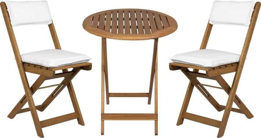 drewniane meble na balkon carol z poduszk na siedzisko zestawy mebli ogrodowych zdj cia. Black Bedroom Furniture Sets. Home Design Ideas