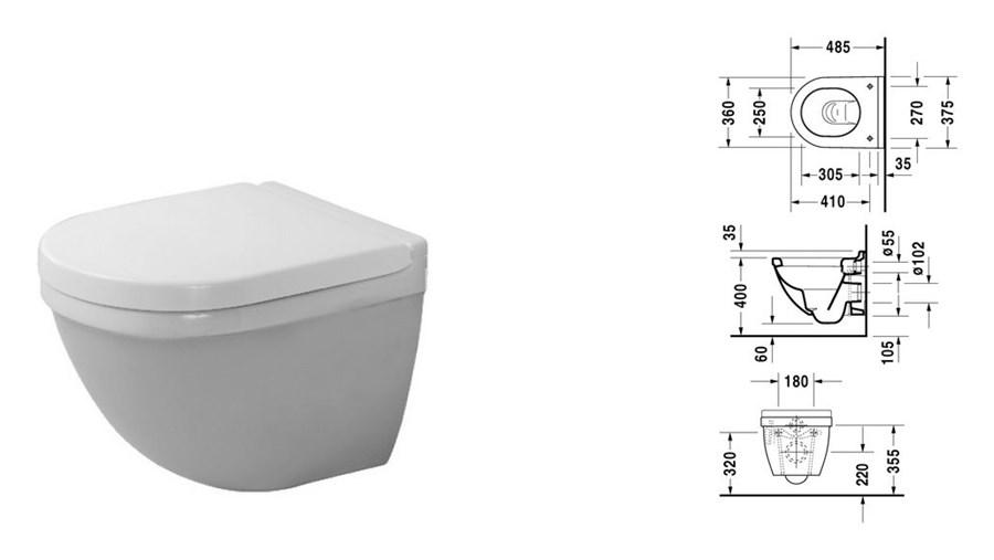 Duravit Starck 3 muszla wc podwieszana Compact 2227090000 - Miski wc ...