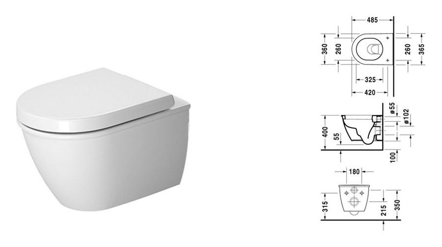 duravit darling new muszla wc podwieszana compact. Black Bedroom Furniture Sets. Home Design Ideas