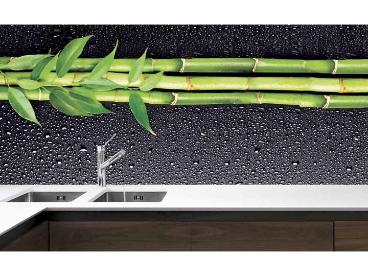Panel Szklany Do Kuchni Bambus I Krople