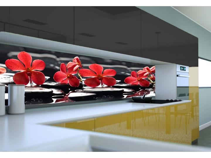 Panel Szklany Do Kuchni Czerwone Kwiaty
