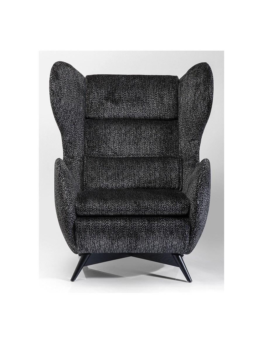 Kare design fotel shibuya black fotele zdj cia pomys y inspiracje homebook Kare fotel