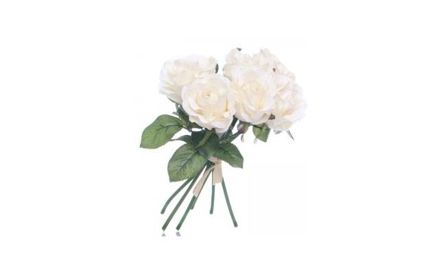 Bukiet Róża Biała 6szt Sztuczne Kwiaty Zdjęcia Pomysły