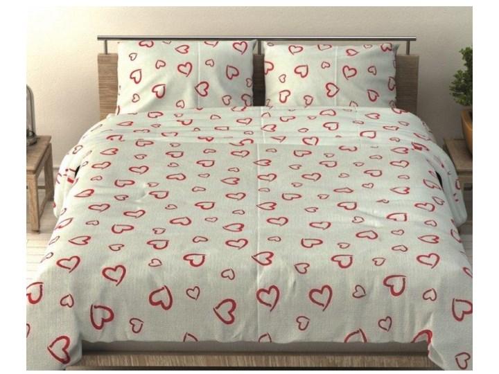 f598ea294b46fe Pościel bawełniana 160x200 wzór 266 Czerwone Serduszka Serca na Białym Tle