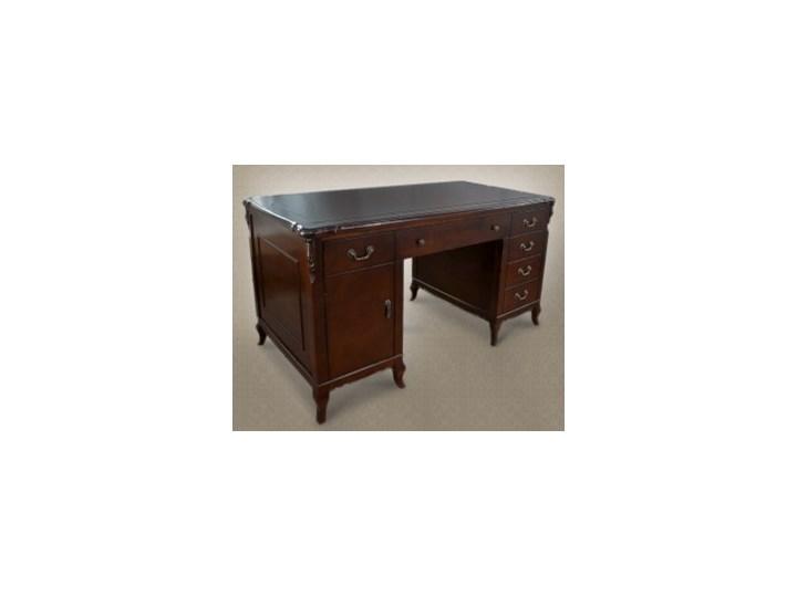 Góra Piękne stylowe biurko do gabinetu wykonane z litego drewna FA04
