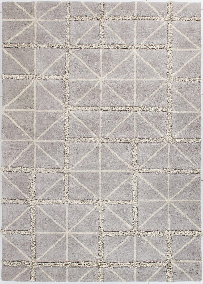 Dywan carpetforyou handtufted geometryczny szary we na 1 for Schlafsofa 1 40x2 00
