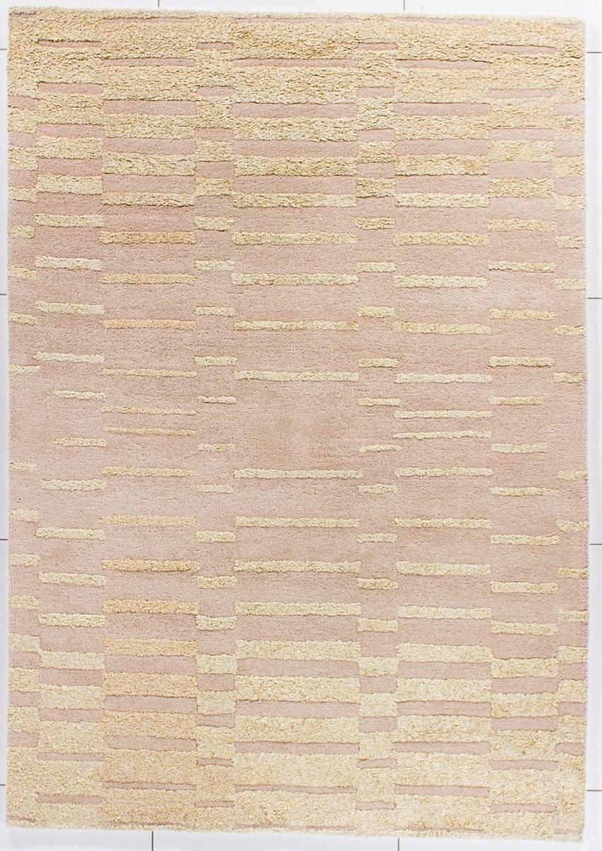 Dywan carpetforyou handtufted geometryczny be owy we na 1 for Schlafsofa 1 40x2 00