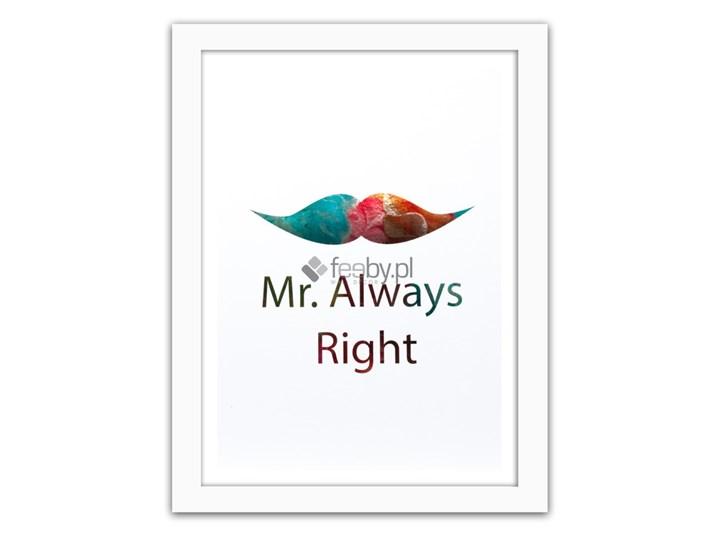 Mr Always Right Kolorowe Napisy Plakaty W Ramie