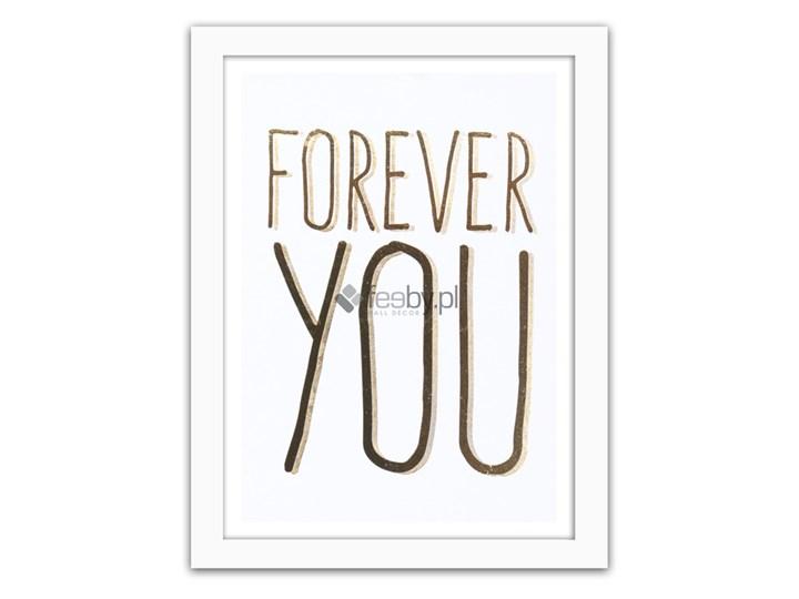 Forever You Złote Napisy Plakaty W Ramie