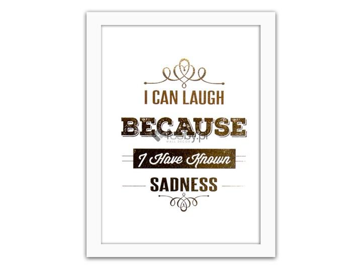 I Can Laugh Złote Napisy Plakaty W Ramie