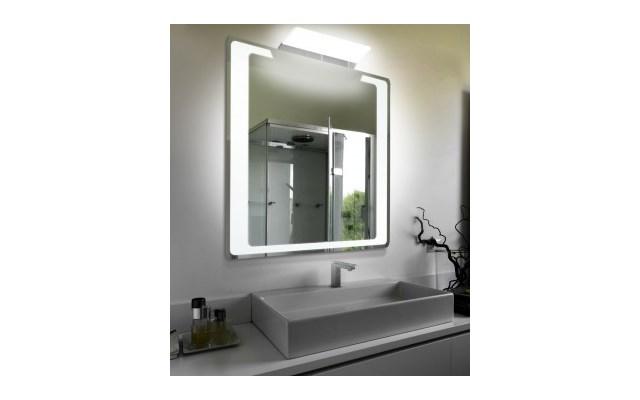 Lustro łazienkowe Led Z Dodatkowym Oświetleniem Sm90 Lustra