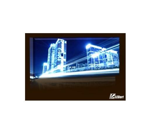 światła Miasta Design Obraz Podświetlany Led Panorama Obrazy