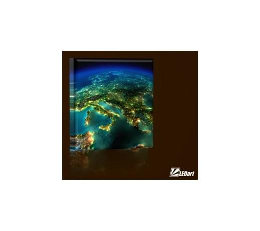 Europa Design Obraz Podświetlany Led Kwadrat Obrazy Zdjęcia