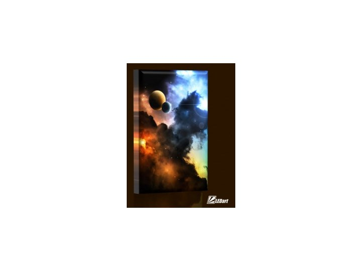 Kosmos Design Obraz Podświetlany Led Pionowy Obrazy Zdjęcia