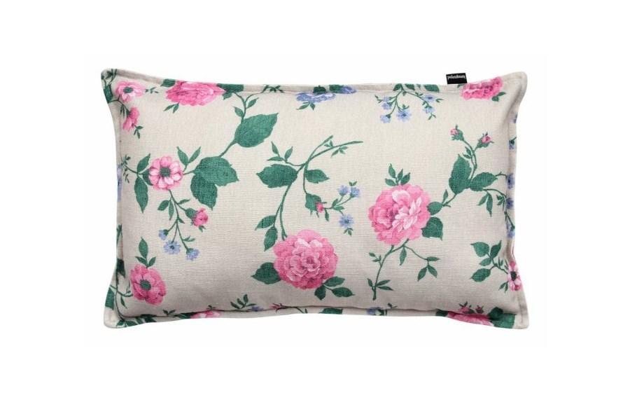 Poduszka Dekoracyjna W Różowe Kwiaty