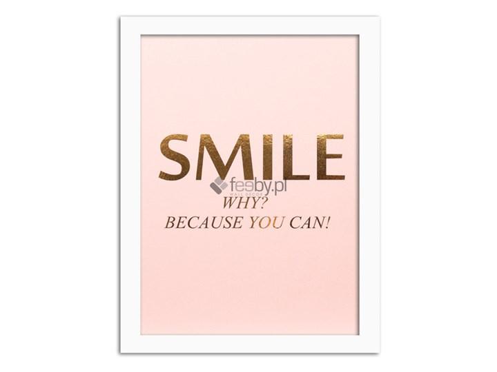Smile 2 Złote Napisy Plakaty W Ramie
