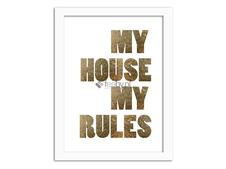 My House Złote Napisy Plakaty W Ramie