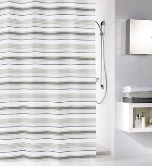 zas ona stripes grey 180x200 zas ony prysznicowe zdj cia pomys y inspiracje homebook. Black Bedroom Furniture Sets. Home Design Ideas