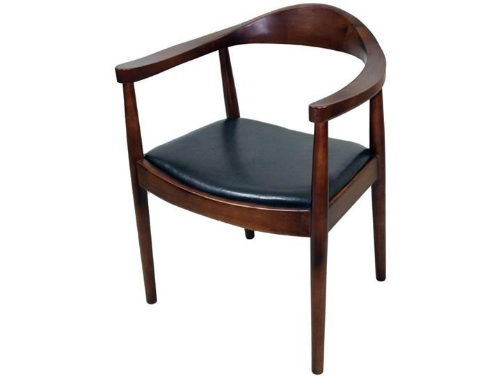 Stylowe Krzesło Ze Skórzanym Obiciem 70cm