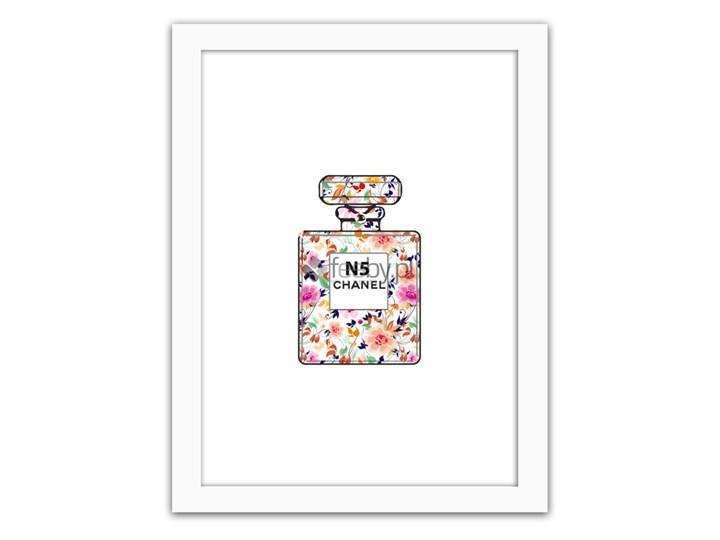 Perfumy Chanel N5 Plakaty W Ramie Biały Obrazy Zdjęcia