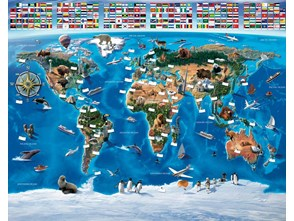 Tapeta Walltastic 3D Mapa